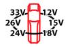 ابعاد چشمی پارکینگ