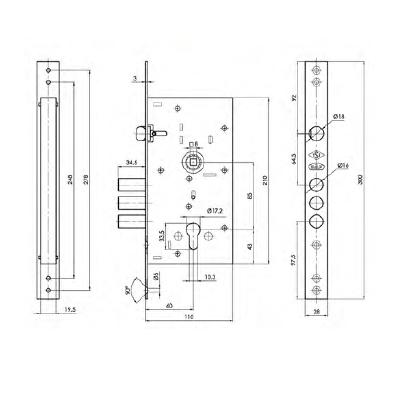 قفل درب ضد سرقت داف مدل 571.60R3M